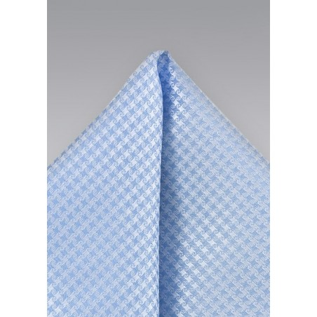 Light Blue Houndstooth Pattern Pocket Square