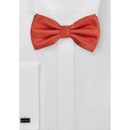 Dark Orange Bow Tie