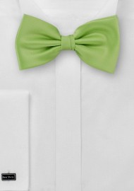 Solid Bright Green Bow Tie