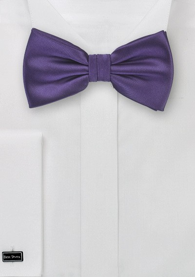 Solid Mens Bow Tie in Purple