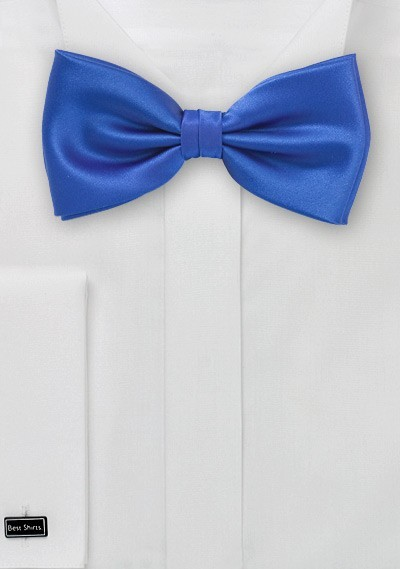 Solid Bright Blue Bow Tie
