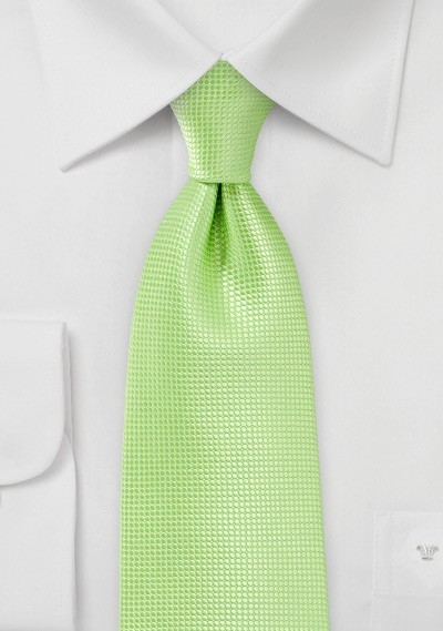 Textured Tie in Tropical Green in Kids Size