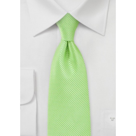 Bold Key-Lime Green Tie in Long Length