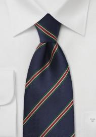 Kids Regimental Striped Tie in Navy