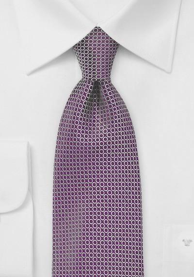 Contemporary Dot Print Tie in Purple