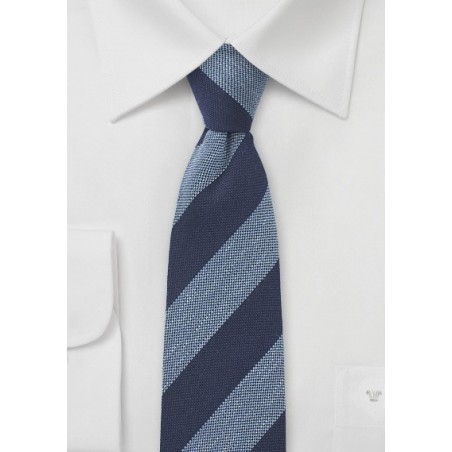 Narrow Wool Designer Tie
