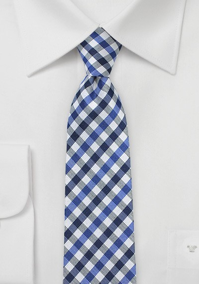 Gingham Skinny in Blue, White, and Black