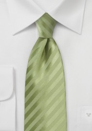 Solid Striped Tie in Flora Green