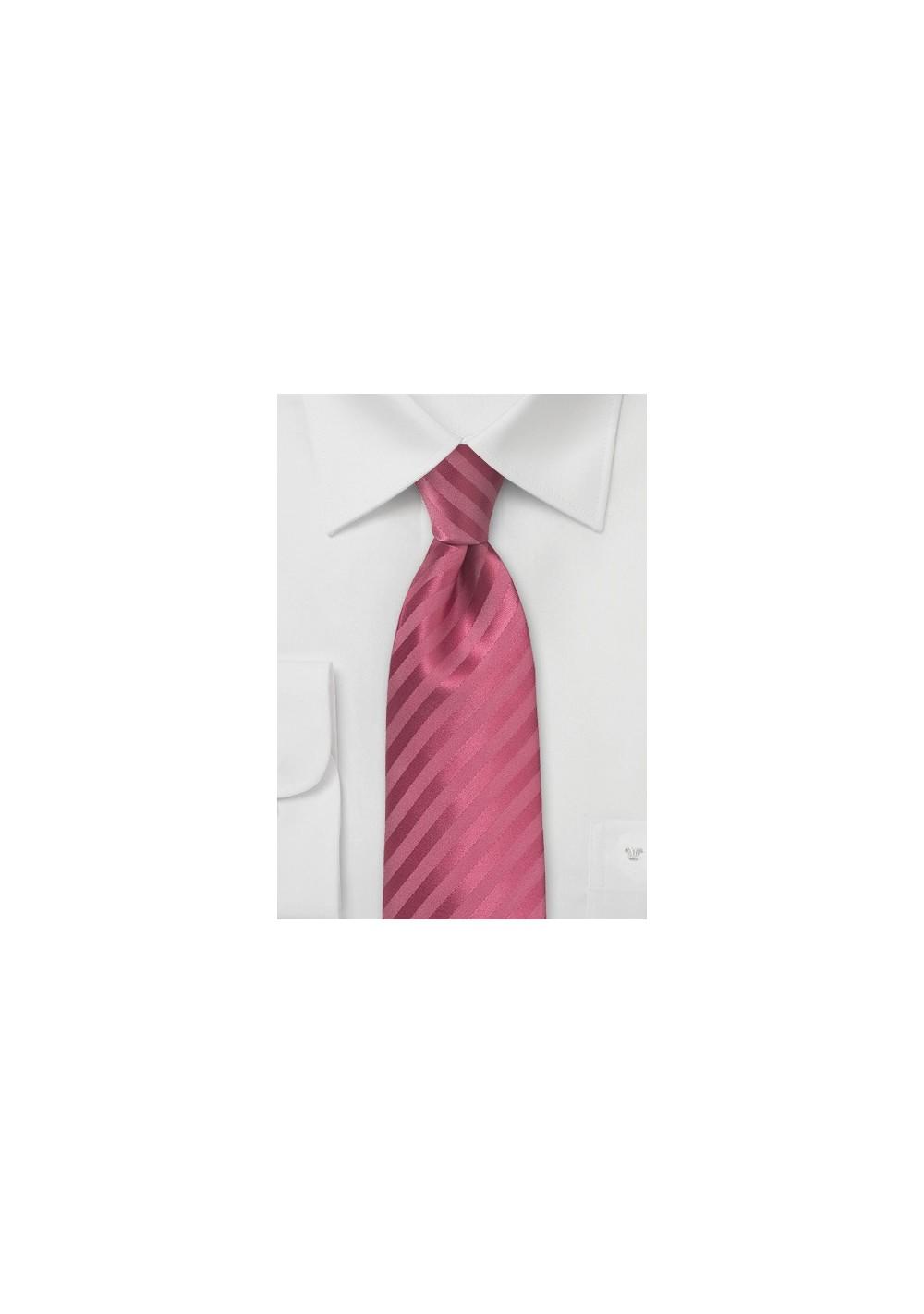 Bold Summer Tie in Raspberry Sorbet Color