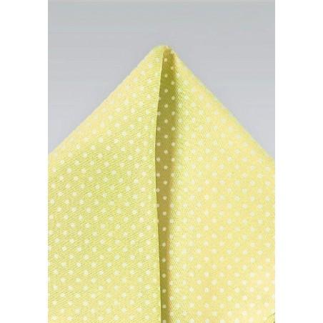 Vanilla Yellow and White Pocket Square