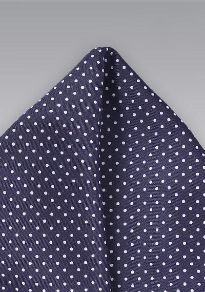 Pin Dot Pocket Square in Dark Amethyst