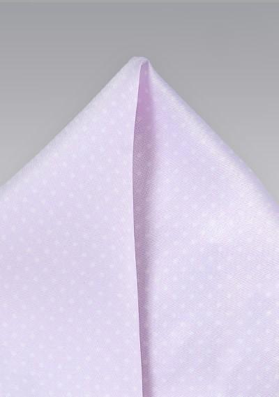 Light Lavender Pocket Square with Tiny Dots