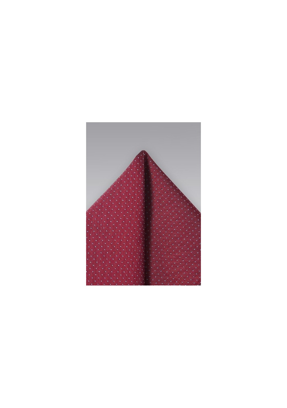 Cherry Red Pin Dot Pocket Square