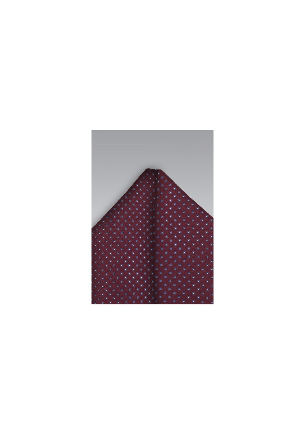 Diamond Pattern Pocket Square in Blue and Burgundy