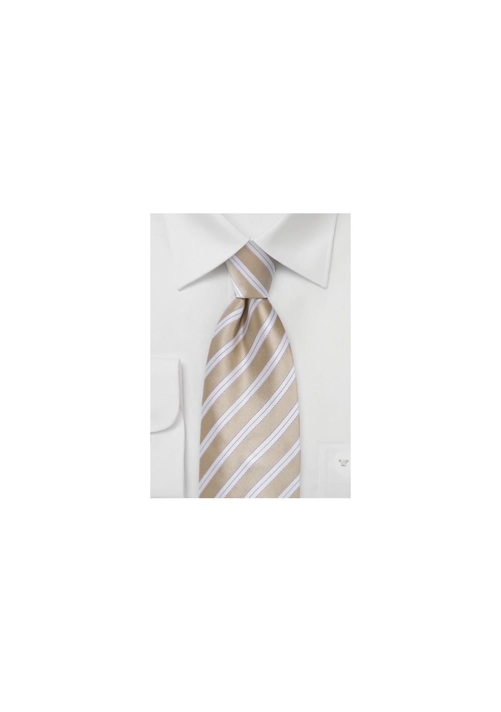 Sweet Almond Striped Tie in Kids Size