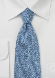Barleycorn Wool Tie in Light Blue