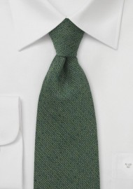 Olive Green Barleycorn Textured Tie