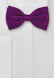 Bold Colored Bow Tie in Dark Fuchsia