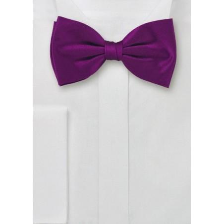 Bold Colored Bow Tie in Dark Fuchsia