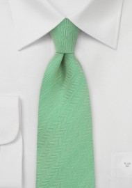 Herringbone Textured Tie in Mint Green
