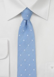 Soft Blue Polka Dot Tie