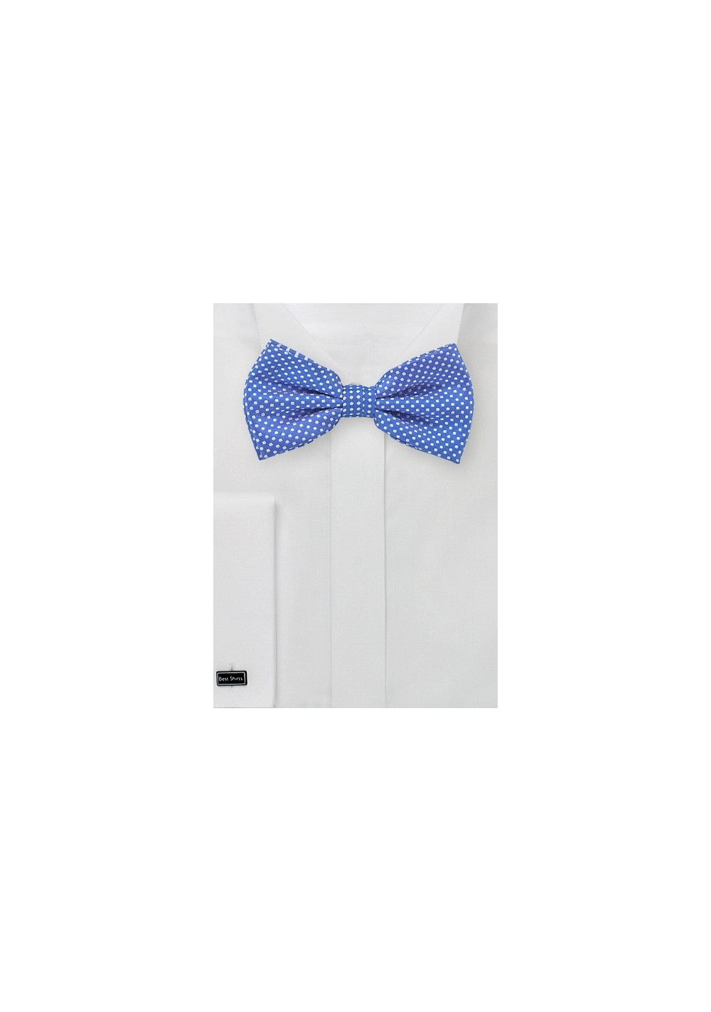 Horizon Blue Bow Tie with Pin Dots