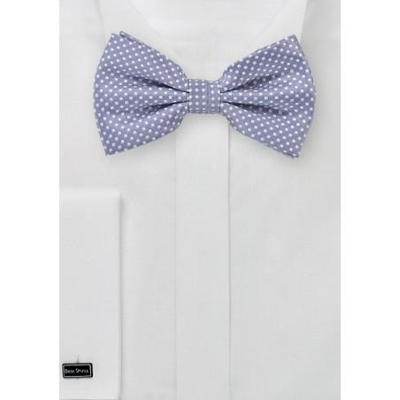 Lilac Purple Pin Dot Bow Tie