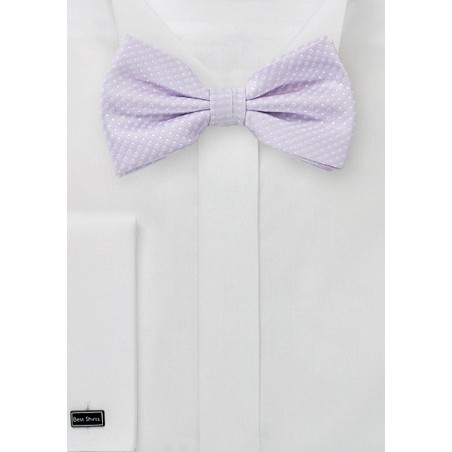 Lavender Colored Pin Dot Bow Tie