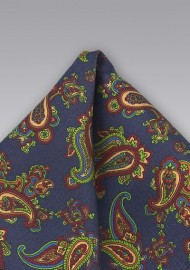 Elegant Paisley Silk Pocket Square