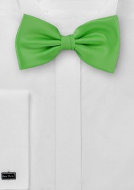 Solid Bow Tie in Bright Kelly Green