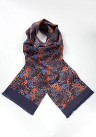 Elegant Silk Scarf for Men with Floral Pattern