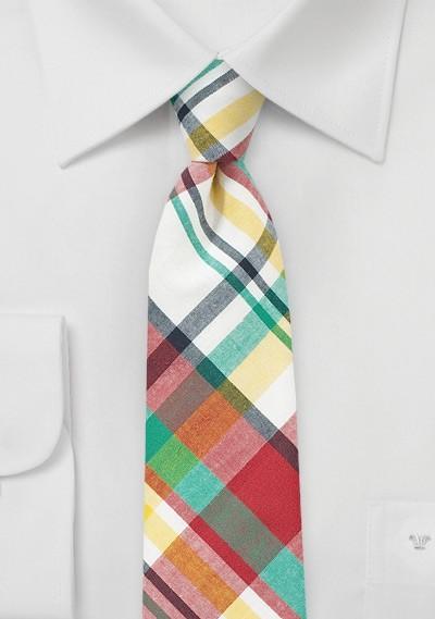 Colorful Madras Summer Tie