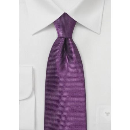 Textured Necktie in Grape Purple