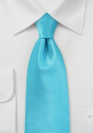 Bold Men's Tie in Bluebird Turquoise