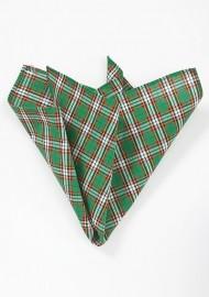 Green and Red Tartan Plaid Handkerchief