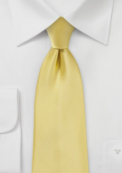 Solid Color Kids Necktie in Butter