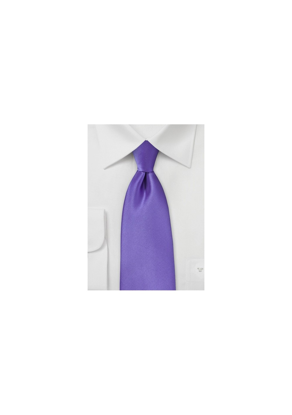 Freesia Purple Clip On Tie