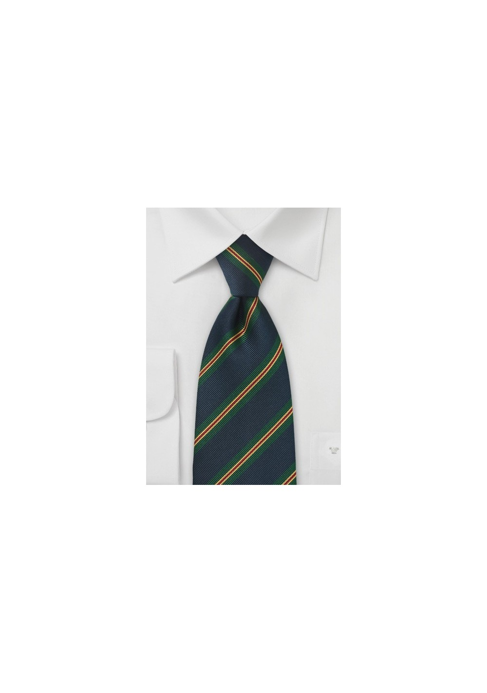 Repp Striped Kids Tie in Dark Navy