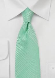 Geometric Plaid Tie in Bright Mint Color