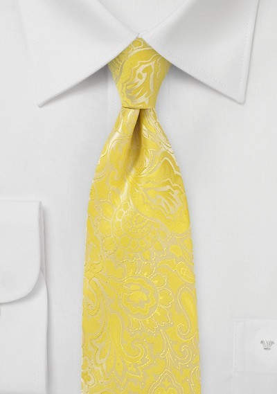 Bright Paisley Tie in Frosted Citrus
