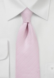 Rose Pink Tie with Trendy Plaid Design