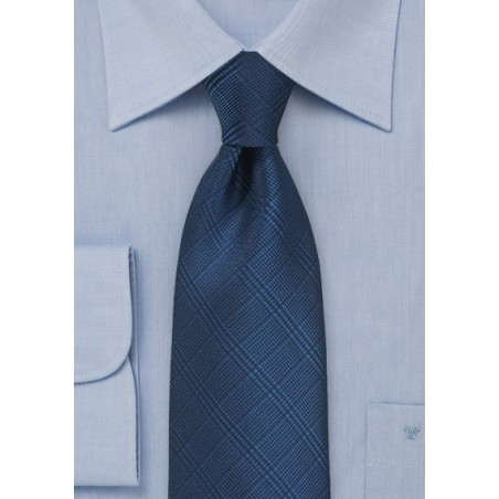 Trendy Check Tie in Patriot Blue