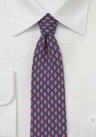 Retro 60s Print Necktie in Skinny Cut