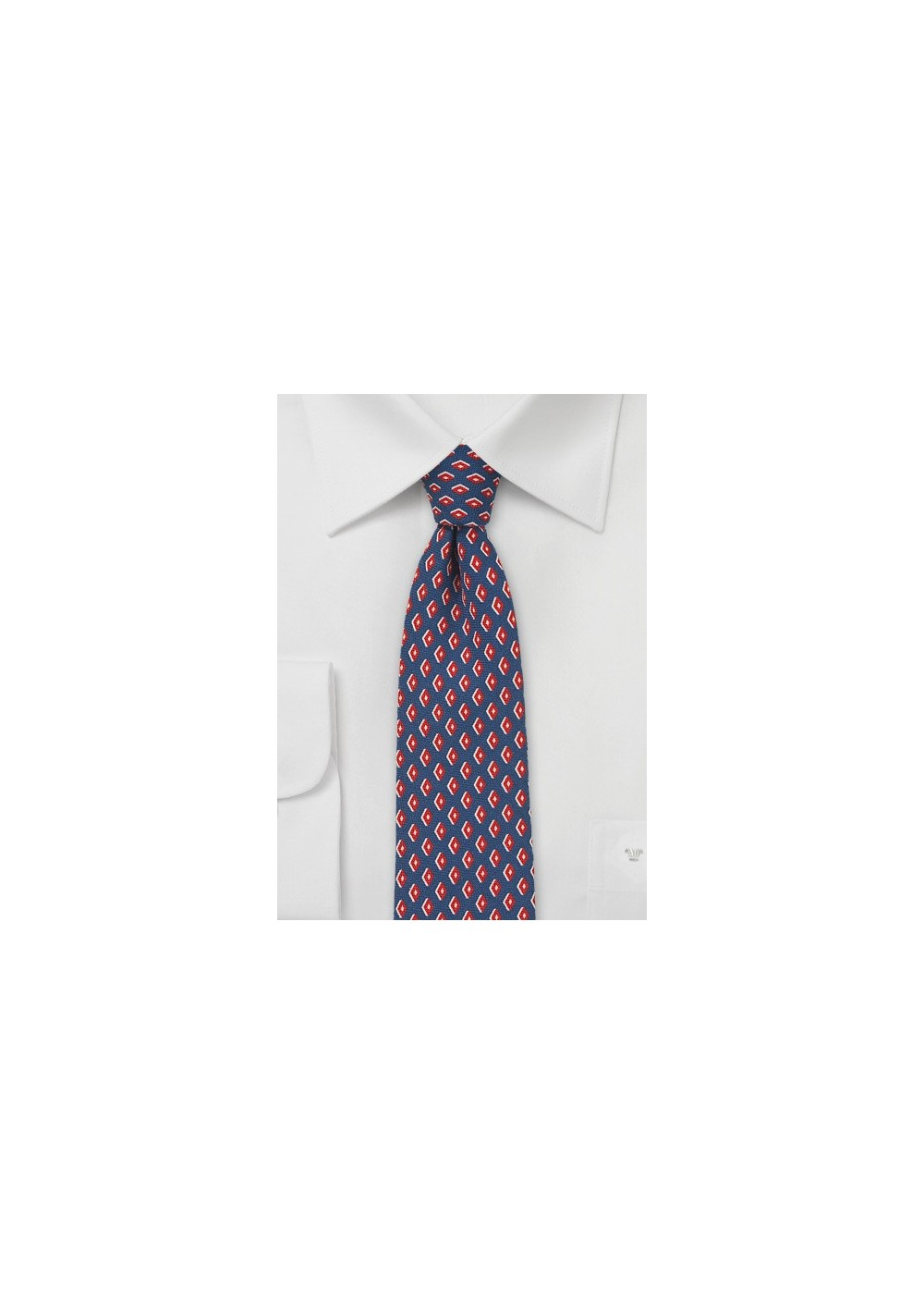 Retro 60s Print Necktie in Skinny Cut