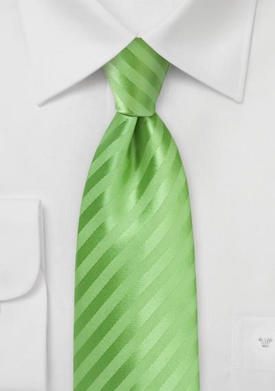 Extra Long Tie in Midori Green