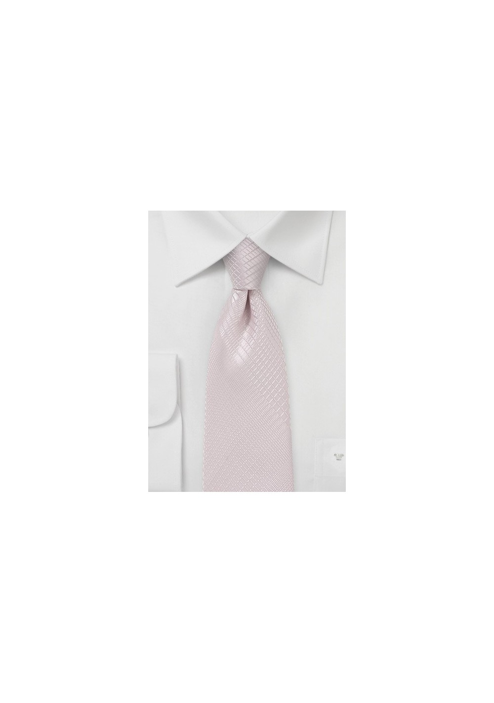 Soft Blush Hued Plaid Necktie