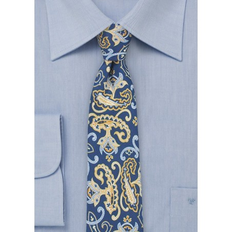 Fun Summer Paisley in Blue and Yellow