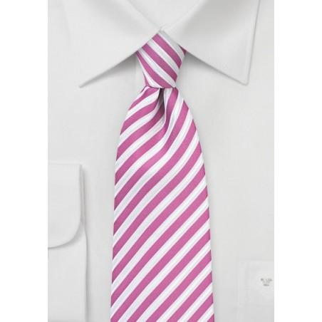 Berry Pink Striped Necktie