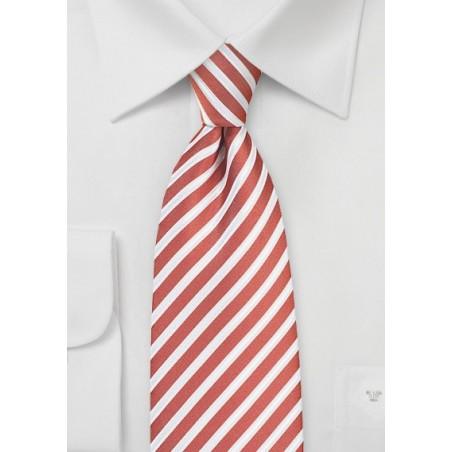 Spice Orange and White Striped Tie