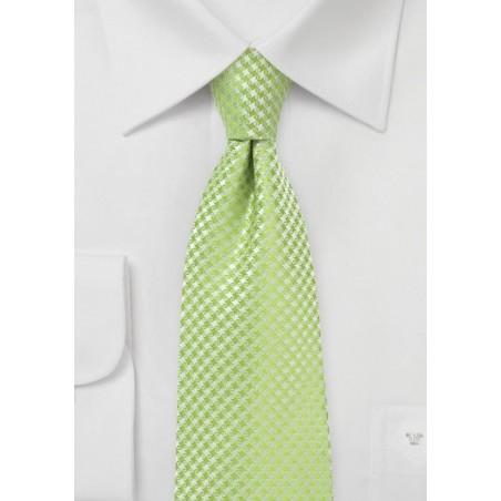 Textured Mens Tie in Green Glow